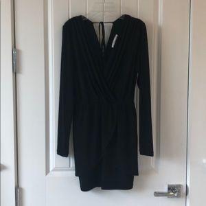 BCBGeneration mini black dress long sleeve black.